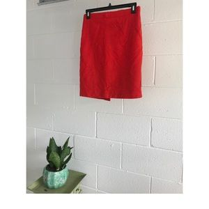 Red wool skirt from J. Crew